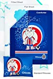 Mexico Soccer Chivas USA 4 Pc 100% Cotton Toddler Bedding Set (Comforter, Flat Sheet, Fitted Sheet, and Pillow included)
