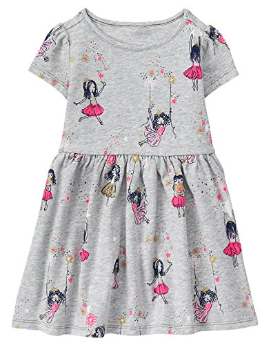 Gymboree Toddler Girls' Fairy Printed Dress, Blissful Blue, 3T