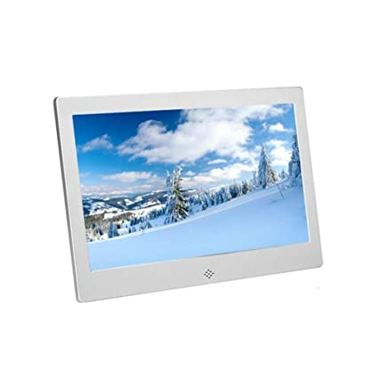 HANMINGSS Digital Frame Digital Photo Frame 12 inch Hi-Res Slim Narrow Border HD Metal