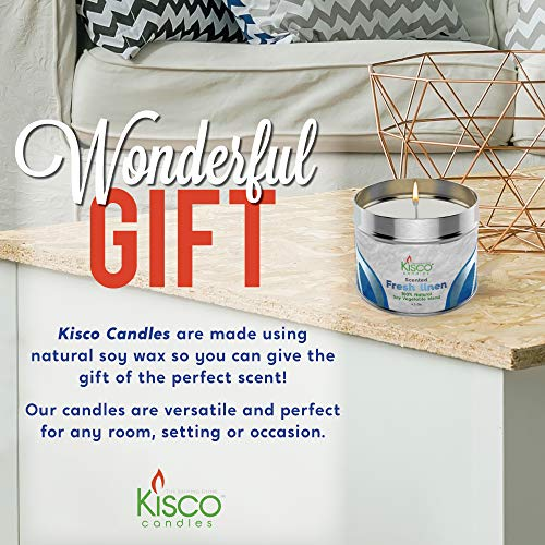 Beautiful Gift Set Tins 100/% Natural Soy Wax 8 Pack Relaxing Vanilla Cookie Fragrance KISCO CANDLES Luxury Lightly Scented Candles Decoration Soothing 4.5oz Aromatherapy Parties