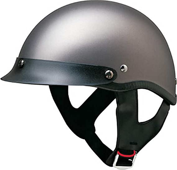 bcfbc478 HCI Matte Deep Silver Motorcycle Half Helmet with Visor - ABS Shell 100-111  (