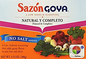 Goya Sazon Natural & Complete, 3.52-Ounce Units (Pack of 6)