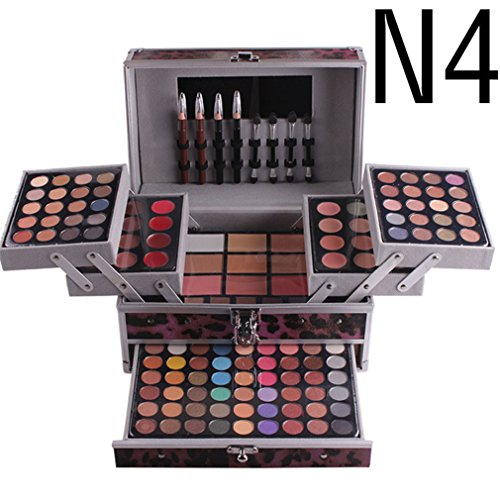 Pure Vie All In One Makeup Palette Gift Set Including 94 Eyeshadow, 12 Concealer, 3 Pressed Powder, 12 Lip Gloss, 3 Blush, 8 Eyebrow Powder - Harmony Makeup Contouring Kit for Salon and Daily Use #N4