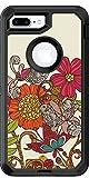 Valentina Spring Garden Birds design on Black OtterBox Defender for iPhone 8 Plus