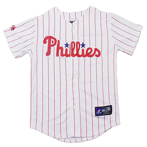 Jersey Authentic (Outerstuff Philadelphia Phillies White Blank Youth Authentic Alternate Jersey (Small 8))