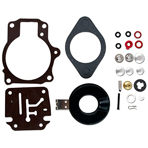 Hp 35 Motor Johnson Outboard (CBK Carburetor Carb Rebuild Repair Kit w Float For Johnson/Evinrude 18 20 25 28 30 35 40 45 50 55 60 65 70 75 HP 396701 392061 398729)