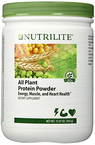 NUTRILITE All Plant Protein Powder 450 g / 15.87 oz (Best Protein Powder For Women Over 50)