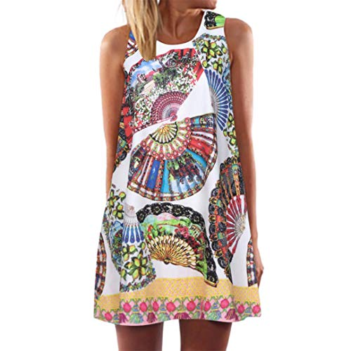 UONQD 2019d Women's Flowy Tank Tops Summer Sleeveless Loose Fit Pleated Tunic Shirts(XXX-Large,F10-White) ()