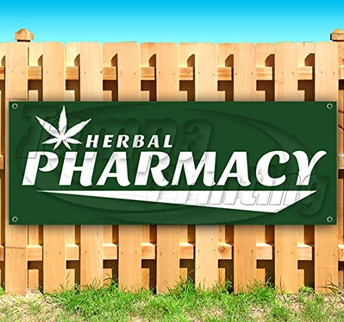 Amazon Com Herbal Pharmacy 13 Oz Heavy Duty Vinyl Banner Sign With Metal Grommets New Store Advertising Flag Many Sizes Available Office Products