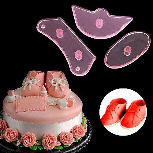 Groovy Cake Decorating Supplies 3Pcs Baby Shoes Birthday Cake Decorating Birthday Cards Printable Benkemecafe Filternl