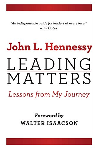 Book cover from Leading Matters: Lessons from My Journey by John L. Hennessy