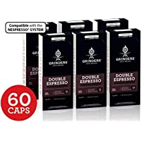Grinders Coffee Nespresso Compatible Capsules, 60 Double Espresso Capsules