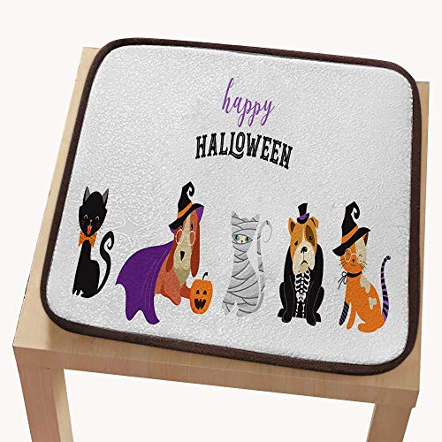 pad for Office chairchair pad setHappy Halloween - Cats and Dogs in Monsters Costumes Halloween Party Vector Illustration Banner Elements Set 18