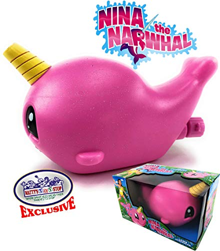Matty's Toy Stop Nina The Narwhal (Pink Unicorn of The Sea) Water Sprinkler