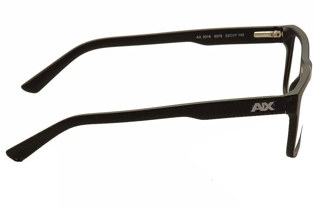 7342ee8f61 Amazon.com  Armani Exchange AX3016 Eyeglass Frames 8078-53 - Matte Black  AX3016-8078-53  Shoes