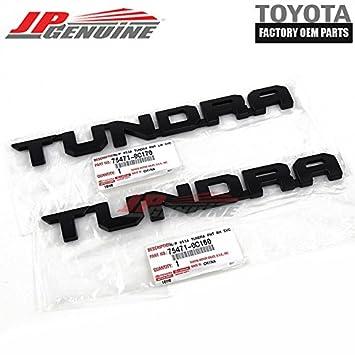 Genuine OEM Toyota Black Tundra Trd Emblem (Lh+Rh) 75471-0C160 75471
