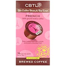 CBTL French Brew Coffee Capsules By The Coffee Bean & Tea Leaf, 16-Count Box