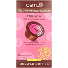 CBTL French Brew Coffee Capsules By The Coffee Bean & Tea Leaf, 128 Grams,16-Count Box