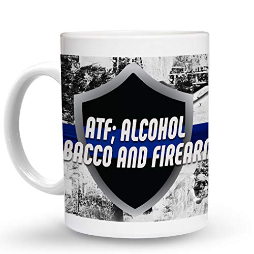 Makoroni - ATF; ALCOHOL TOBACCO AND FIREARMS Police Cop Cops - 11 Oz. Unique COFFEE MUG, Coffee Cup
