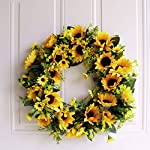 Fenteer-Artificial-Sunflower-Harvest-Silk-Fall-Front-Door-Wreath-Summer-Spring-Wreath-Decoration