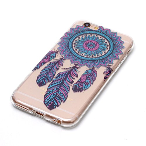 Coque Etui iPhone 6 6S , Leiai Blue Wind Chimes Silicone Gel Case Avant et Arrière Intégral Full Protection Cover Transparent TPU Housse Anti-rayures pour Apple iPhone 6 6S