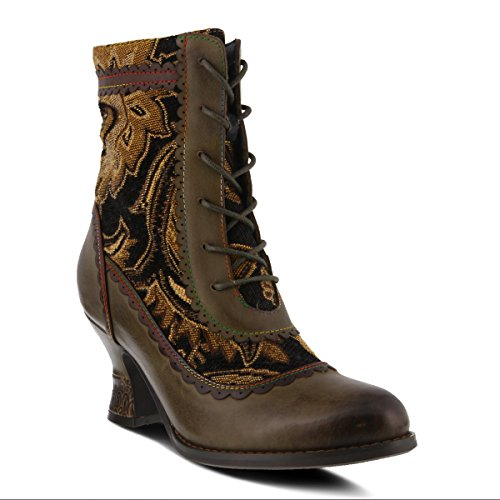 L`Artiste by Spring Step Women's Leather Boots Bewitch Olive Multi EU Size 42 (Spring Step Olive)