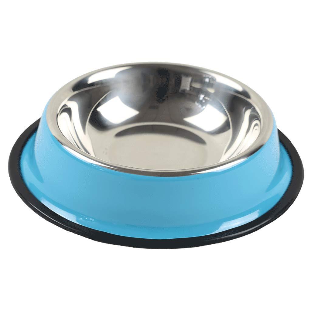 Xs SLH Stainless Steel Dog Pot Cat Bowl Pet Bowl Dog Supplies bluee Dog Food Bowl Large Dog Rice Bowl. (Size   Xs)