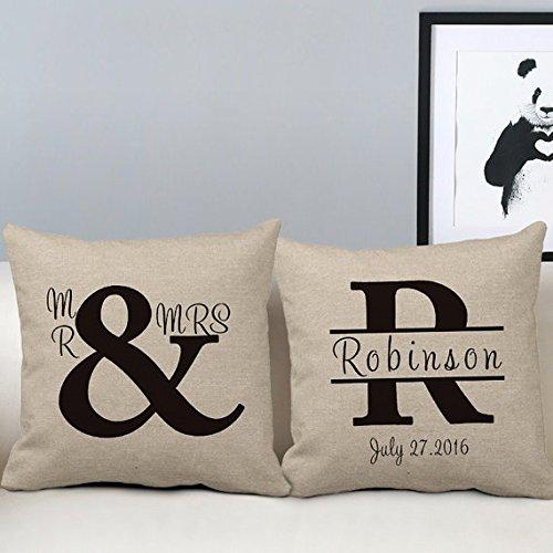 18 x 18 Señor y señora manta fundas de almohada conjunto de ...