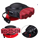 TKSTAR 12V 150W Car Heater,Fast Portable Car Heater,30 SecondsQuickly Defogger Heater,Auto Ceramic Heater Cooling Fan(711038 red)
