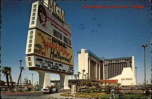 Mgm Grand Hotel Las Vegas Nevada Nv Original Vintage Postcard At Amazon S Entertainment Collectibles Store
