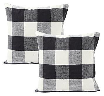 Amazon.com: Foucome - Funda de cojín de lino y algodón para ...