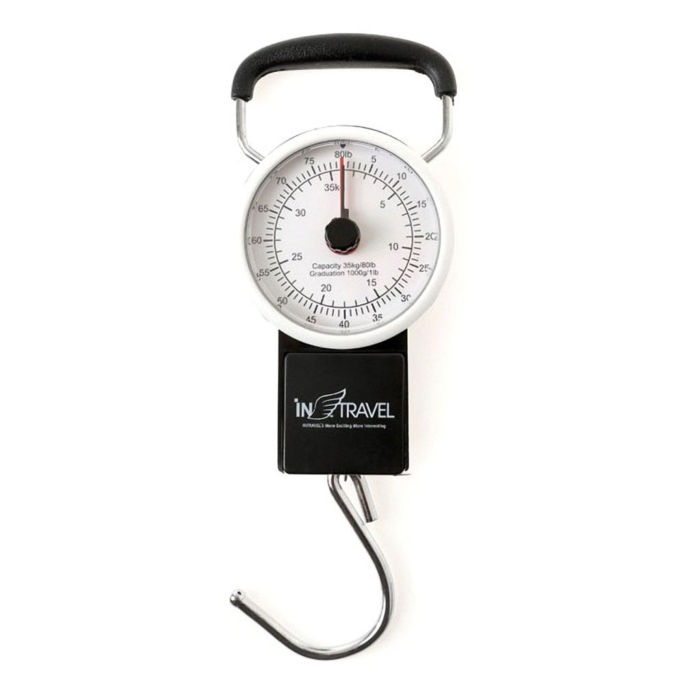 Intravel Portable Manual Luggage Scale With Built-in Measuring Tape