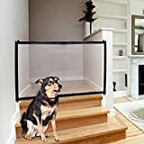Cheap Magic Gate for Dog & Pets, Lightweight Foldable Portable Mesh Safety Enclosure Fence Guard, for Doorway Hallway Stairwell Outdoor Indoor Anywhere