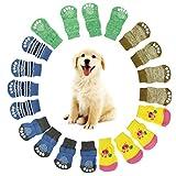 Letdown Pet Socks, 4Pcs Cute Puppy Dogs Pet Knits Socks Anti Slip Skid Bottom (S)