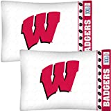 NCAA Wisconsin Badgers Football Set of Two Pillowcases