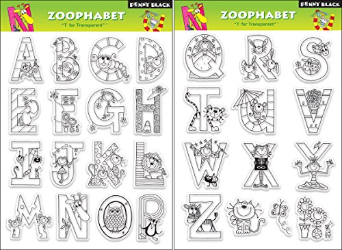 Penny Black Clear Stamp Set, Zoophabet