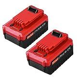 20 Volt 4.0Ah Replacement for Porter Cable 20V Lithium-ion Battery PCC685LP PCC680L PCC685L PCC682L 2 Packs