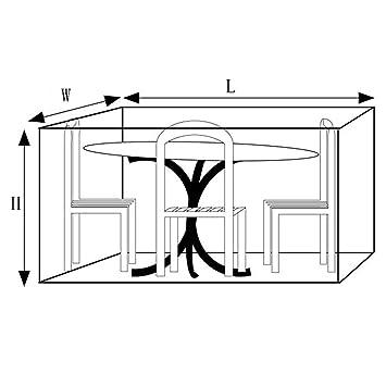 Tables GZHENH Housse Protection Salon De Jardin Cube Housse ...