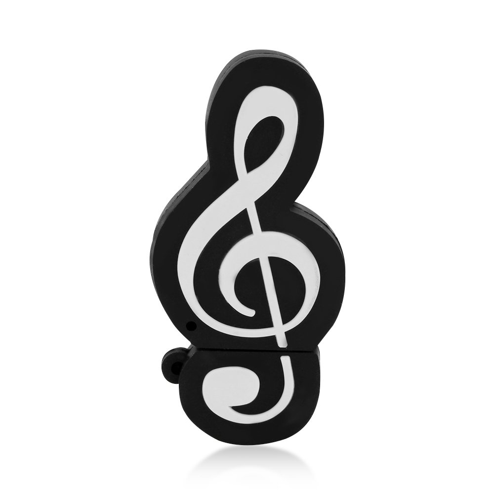 CHUYI Novelty Music Note Shape 32GB USB 2.0 Flash Drive Date Storage Pen Drive Memory Stick Pendrive Thumb Drive U Disk Gift (Black) by CHUYI (Image #2)