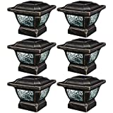 Paradise GL28998BZ Solar Cast Aluminum LED Post Cap Light (Bronze, 6 Pack)