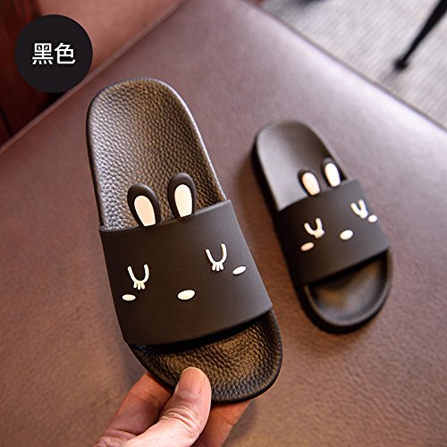 non bottom has cute bathroom Black bath The plastic summer cat female home fankou 35 slippers a Rabbit cool slippers indoor stay slippers soft slip thick wqZIx4
