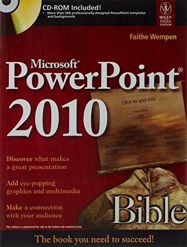 MICROSOFT POWERPOINT 2010 BIBLE (Microsoft 2010 Powerpoint Bible)