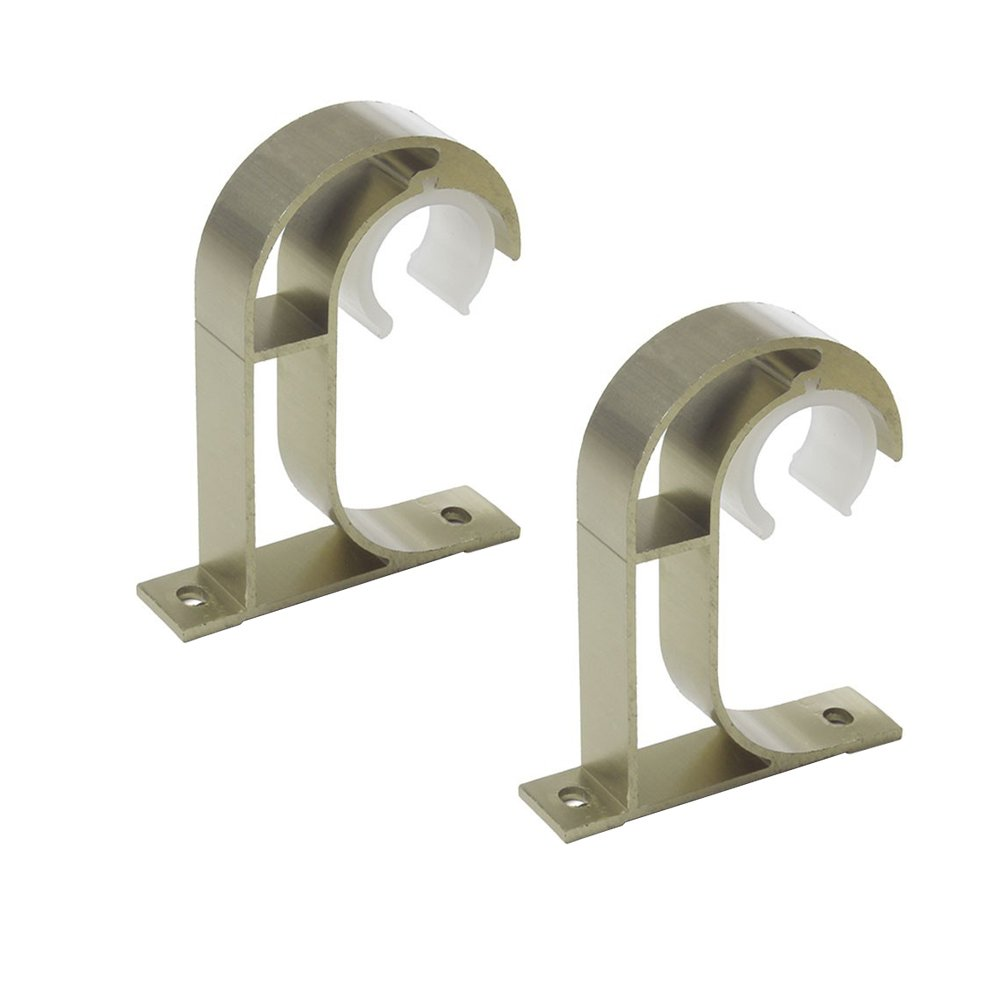 En alliage daluminium Lot de 2 supports iHomestyle pour tringle /à rideau Fixation au plafond