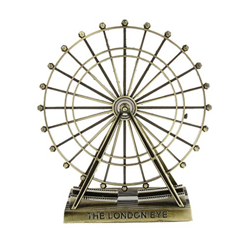 Flameer Decorative Metal London Eye Ferris Wheel Model Home Office Table Desk Top Ornaments Birthday Gift - Style 2 (Ferris Wheel Decoration)