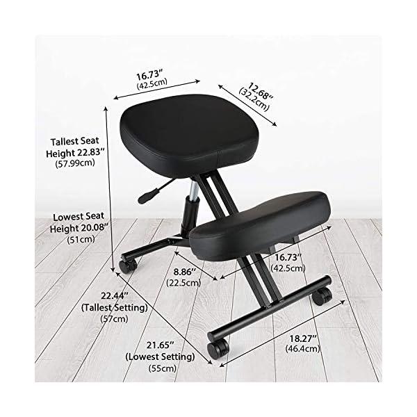 Chaise Ergonomique pour agenouiller – Variable Chaise -Bureau Chaises orthopédique Posture – Siège réglable, sans…