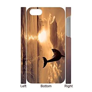 3D Bumper Plastic Case Of Dolphin customized case For iPhone 5c