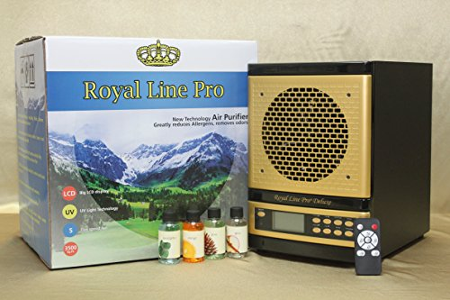 2017 ROYAL LINE PRO® DELUXE FRESH AIR PURIFIER EXCLUSIVE 8 STAGE 3500 SQ FT IONIZER ALPINE LIVING CLEANER HEPA UV OZONE w ecoquest plates.AROMATHERAPY *EXCLUSIVE HONEYCOMB CARBON.LUXURY GOLD ON BLACK by Royal Line Pro, Inc