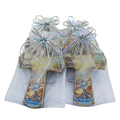 Baptism Wall Cross Favor in Decorated Organza bag 12pcs by WE (Image #4)
