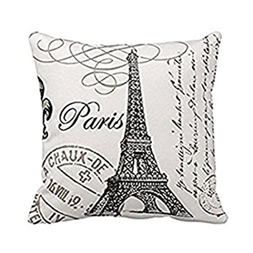 Eiffel Square Custom Pillow 18 Inch product image