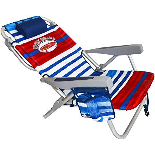 2 Tommy Bahama Backpack Beach Chairs Red White Blue